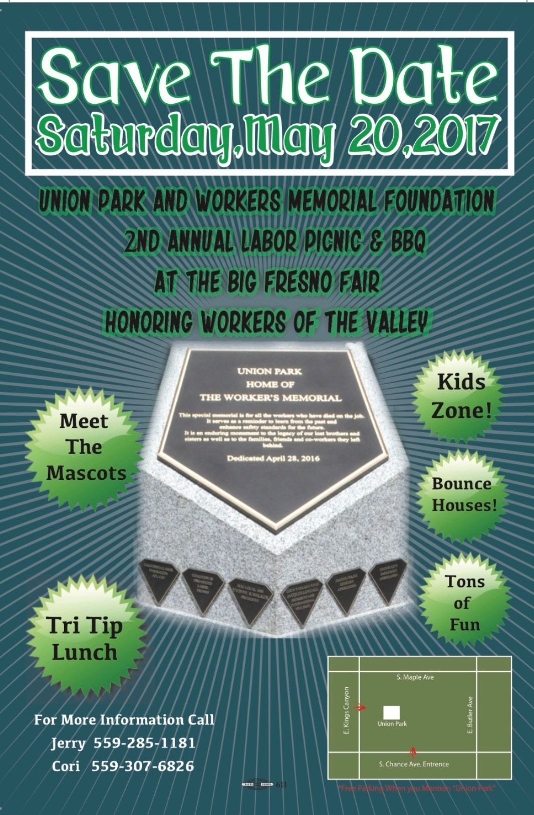 Union Park & Workers Memorial Foundation 2nd Annual Labor Picnic at The Big Fresno Fair