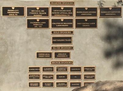 Sponsorship Wall.