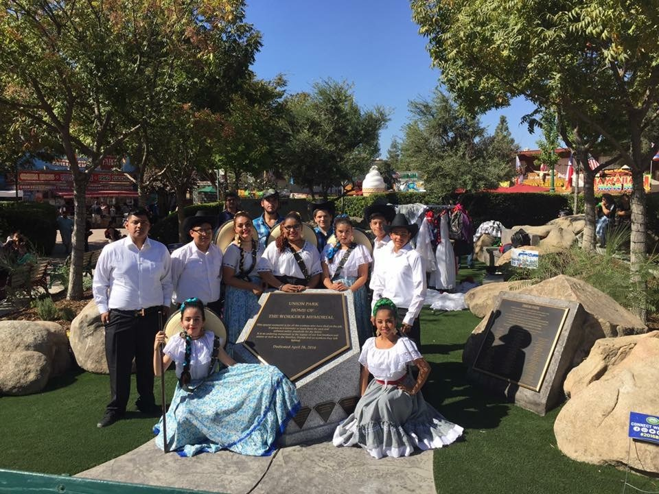 At The Big Fresno Fair. Great Dancing by The Fresno High School Folklorico Dance Club. Picture 1 10-6-16