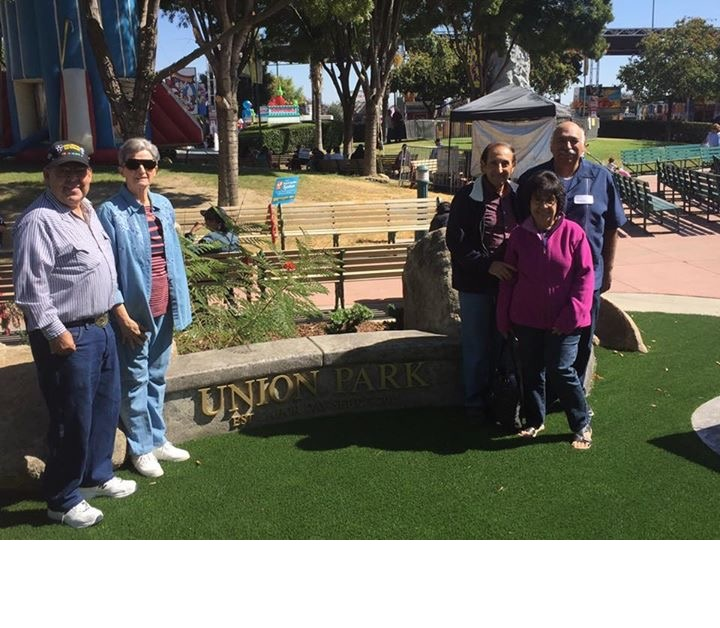 Members of the UFCW 8 Retirees Club at the Union park at The Big Fresno Fair. Picture 2 !0-5-16