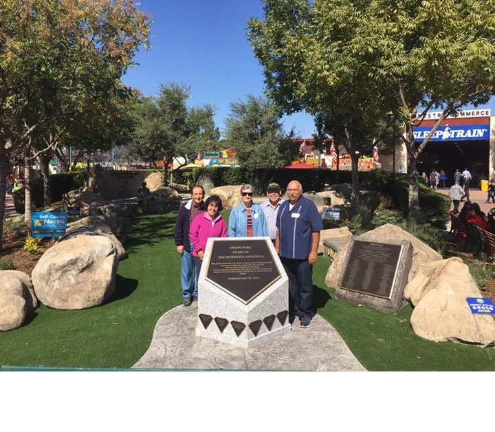 Members of the UFCW 8 Retirees Club at the Union Park at The Big Fresno Fair. Picture 3 10-5-16