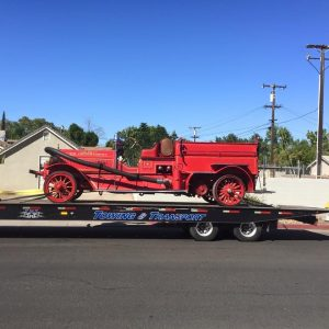 Today is an Exciting Day. Fresno City Firefighters - Local 753 are moving one of their Vintage Fire Engines into The Museum at The Big Fresno Fair. Picture 2 9-23-15