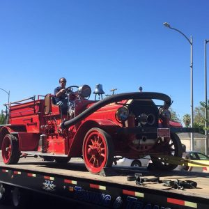 Today is an Exciting Day. Fresno City Firefighters - Local 753 are moving one of their Vintage Fire Engines into The Museum at The Big Fresno Fair. Picture 3 9-23-15