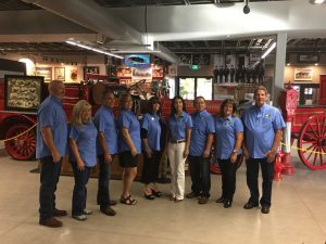 The Big Fresno Fair Board of Directors at the Fresno Firefighter Local 753 exhibit. 2015