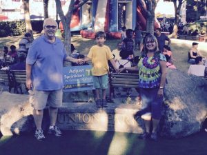 UFCW 8 Secretary-Treasurer Kirk Vogt, his wife Cathy, and grandson Tyler enjoying our Union Park at The Big Fresno Fair. 10-12-16