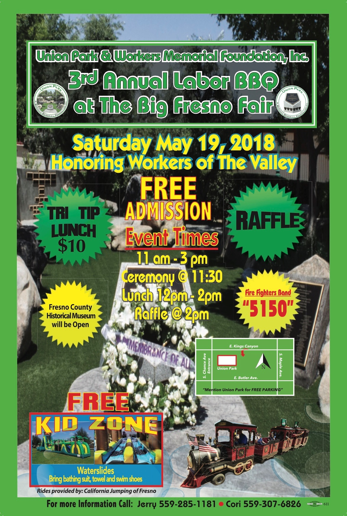 Union Park & Workers Memorial Foundation 3nd Annual Labor Picnic at The Big Fresno Fair